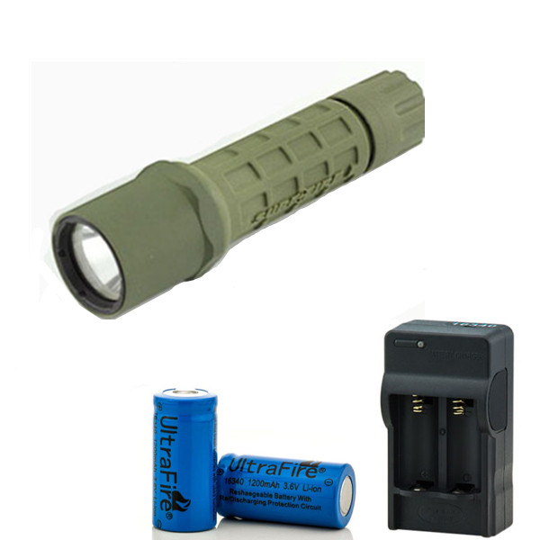 Excellent  High quality 300 Lumen CREE R2 G2 Tactical  LED Flashlight for Surefire Torch 2x16340 Battery +Charger 2015 h1 led cree high lumen 30w 3000lm 6000k no need fan