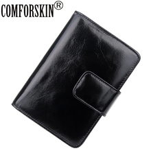 COMFORSKIN Luxurious 100% Cowhide Oil Waxing Leather Card Wallets 2018 New Arrivals Large Capacity Fashion Style Holders