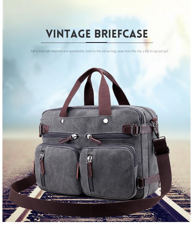 HTB1o2mmaPzuK1Rjy0Fpq6yEpFXav Men Canvas Briefcase Business Laptop Handbag Large Messenger Shoulder Bag Big Casual Male Tote Back Bags Travel Suitcase XA162ZC