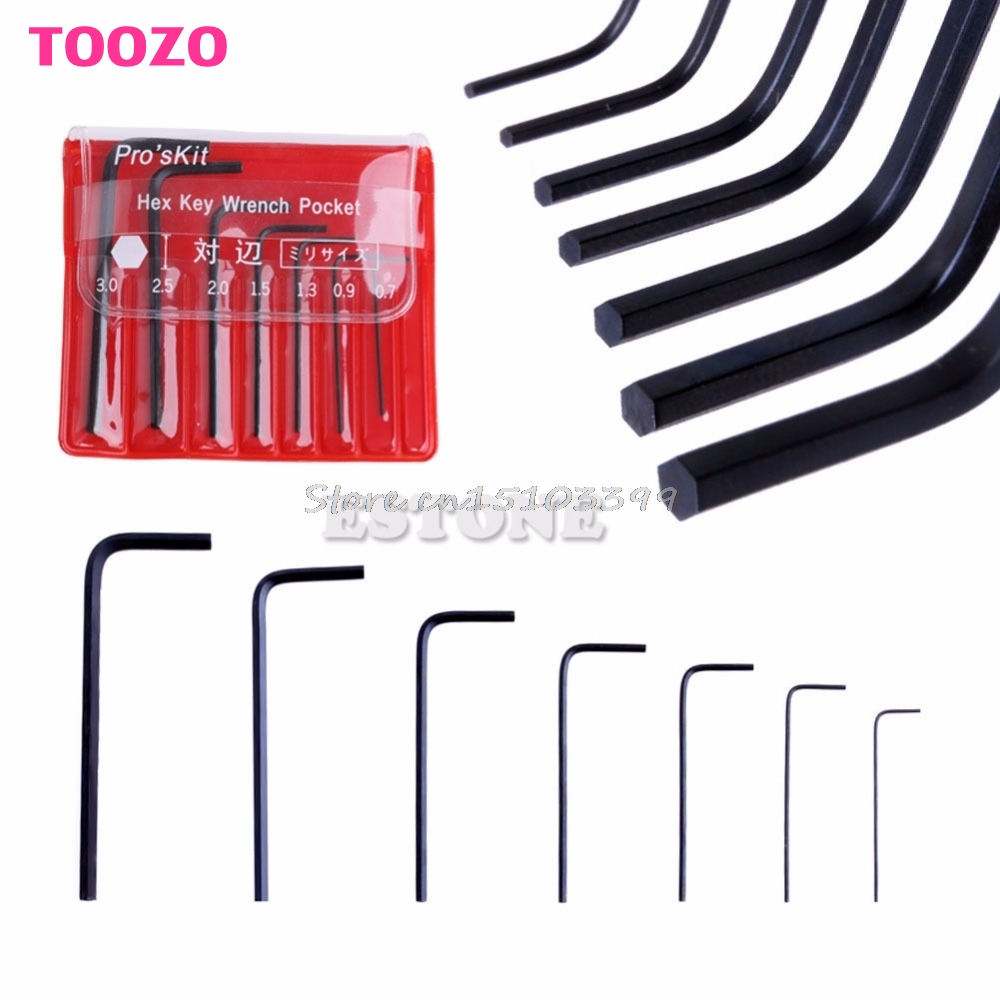 7Pcs 0.7mm-3mm Mini Micro Hex Hexagon Allen Key Set Wrench Screwdriver Tool Kit #G205M# Best Quality  цены