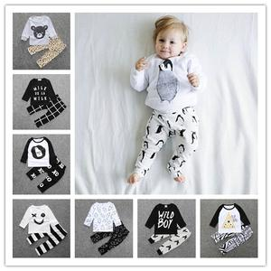 Baby Spring Wholesale Cotton Fashion T-Shirt Pants And Autumn Long-Sleeved