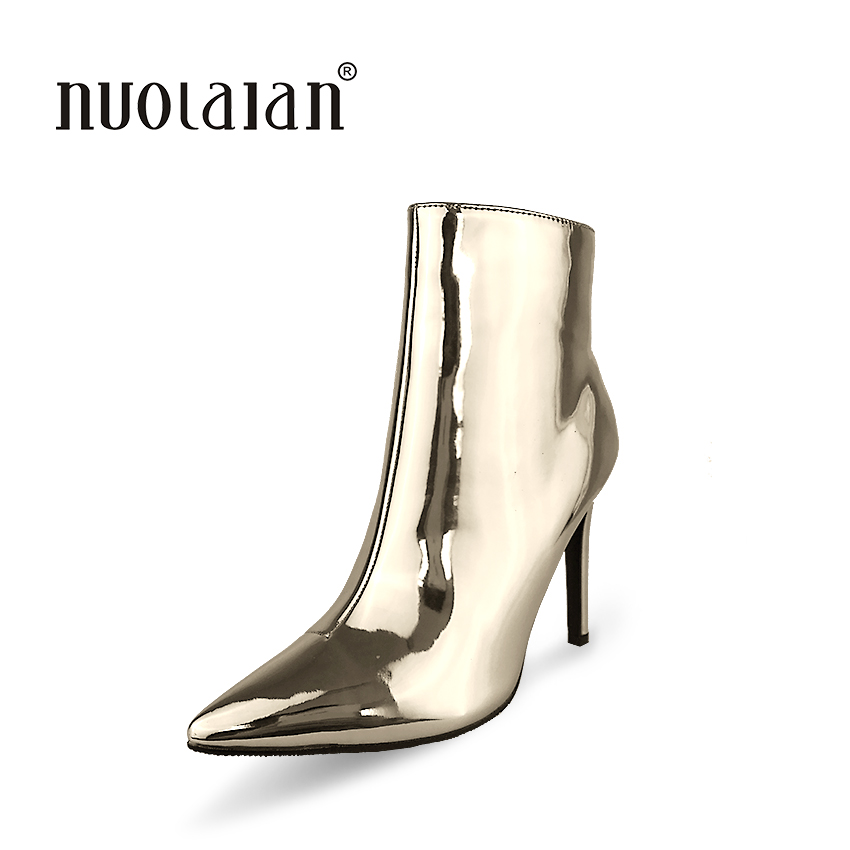 Women Boots Brand 2017 Sexy Pointed Toe Ankle Boots for Women High Heels Fashion Autumn Winter Boots