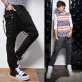 Pantalones de los hombres 2017 Mens Joggers Pantalones Holgados Personalidad Adorno Pantalones Cargo de Los Hombres Pantalones Harem Sarouel Mens Ropa Gymshark