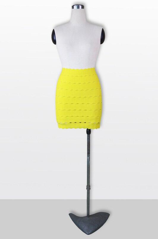 Negro Mini Vendaje De Bodycon azul púrpura Precio Del Mujer Sexy Vestido Lápiz Alta Caliente Verano amarillo Calidad Falda Venta Fábrica taF6g