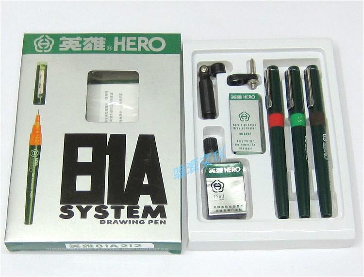 Hero pens set 81A-7 pen ink needle drawing pen hook line pen drawing 030609 setHero pens set 81A-7 pen ink needle drawing pen hook line pen drawing 030609 set