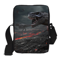 hot deal buy casual men messenger bags cool animal dinosaur print mini crossbody bags men's shoulder bags satchel kids schoolbags best gift