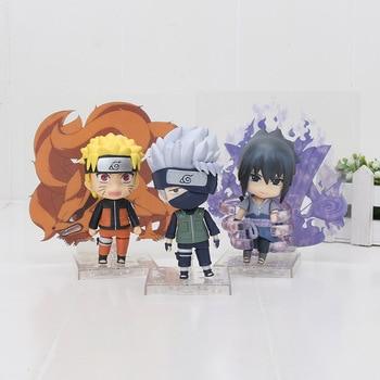 אנימה נארוטו אוזומאקי Nendoroid 682 סאסקה אוצ 'יהא 707 Hatake קאקאשי 724 Itachi PVC פעולה איור אסיפה דגם צעצוע 10 cm