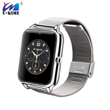 U-KIME Z50 Metal Strap Bluetooth Smart Watch Camera Fashon SIM TF Card Wearable Devices SmartWatch For Apple IOS Android