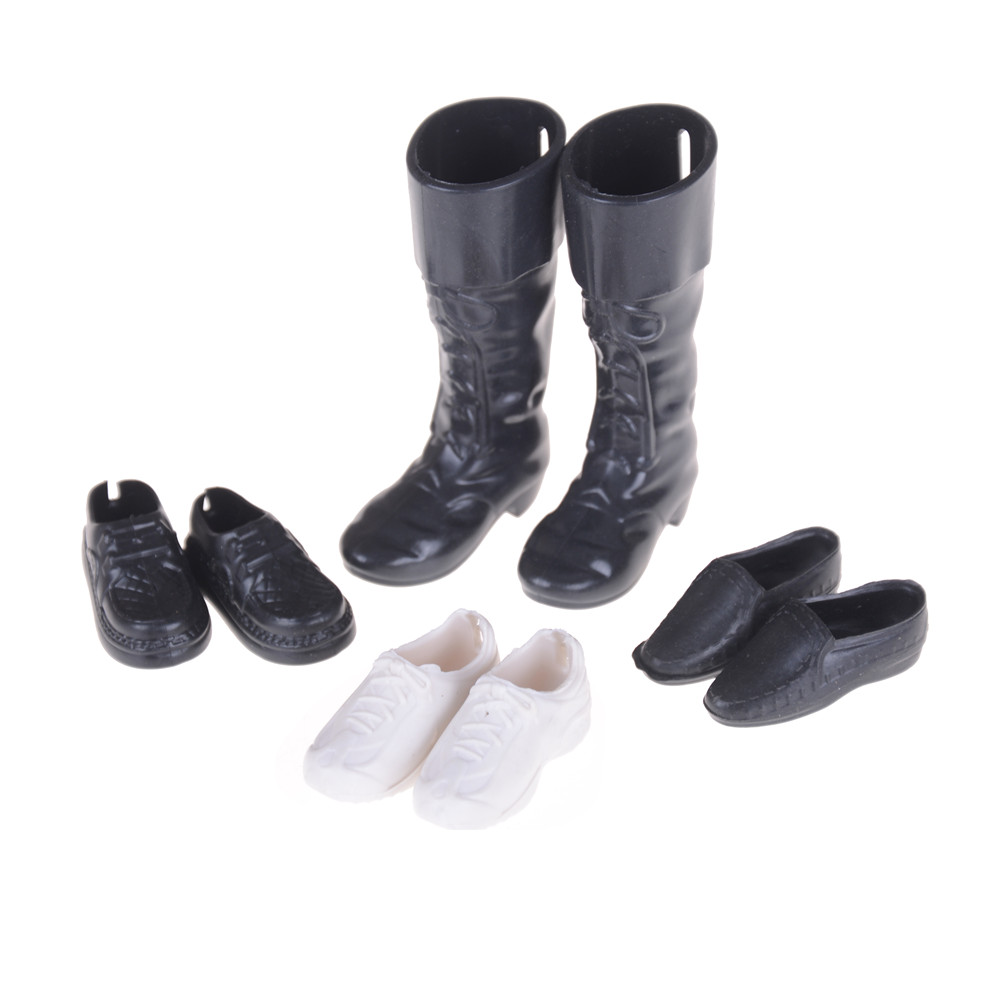 4pairs Clothes Accessories Dress Up Friend Dolls Cusp Shoes Sneakers Knee High Boots For Doll Boyfriend Ken