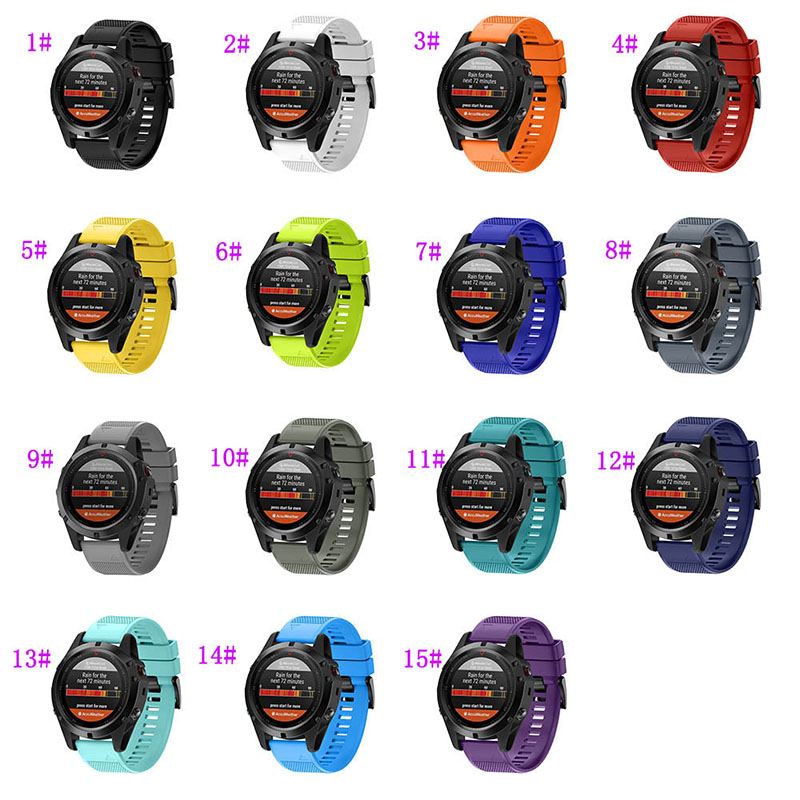 Correa de reloj de silicona suave para Garmin Fenix 5X/Fenix 3/Fenix 3 HR