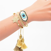Go2boho Evil Eye Bracelet Women Perles MIYUKI Gold Star Jewelry Bileklik Pulseras Mujer 2019 New Lucky Turkish