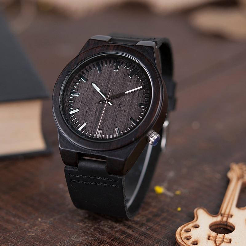 BOBO BIRD V-B12 μαύρο ξύλινο ρολόι Mens - Ανδρικά ρολόγια - Φωτογραφία 3