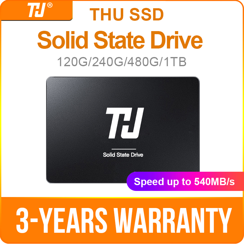 Disque dur solide interne THU SSD SATA3 120GB 240GB 480GB 1 to 540 mo/s 2.5
