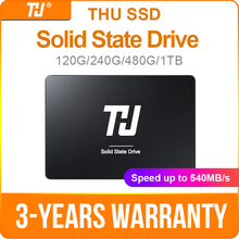 THU SSD SATA3 120GB 240GB Internal Solid Hard Disk Drive 480GB 1TB 540MB/s 2.5 for PC Laptop notebook br all new 120gb 240gb msata ssd mini sata3 0 6gbps 240g 120g internal solid state drive hard drive ssd for laptop