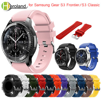Sports Watches Silicone Bracelet Strap band For Samsung Gear S3 Frontier Classic 22mm wristbands For Huami Amazfit Stratos 2 2S image