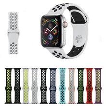 LXsmart Esporte Relógio de pulseira de Silicone Para A Maçã 42/38mm banda iwatch série 4/3/2/ 1 44/40mm Nike cinto Pulseira Pulseira de Silicone