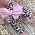 Enbaba girls pantalones de algodón ocasional otoño pantalones harén niña 2016 niños de los bebés de impresión de Leopardo arco niño de las polainas de los pantalones de la colmena