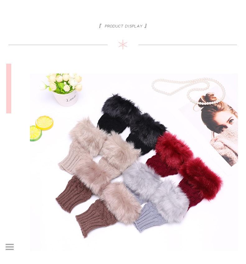 Winter Knitted Gloves New Wrist Trim Gloves 12