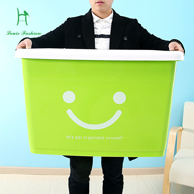 Extra grande caixa de plástico volume de negócios caixa de plástico bin roupas receber uma caixa armazenar conteúdo caixa armazenar conteúdo caixa com um cobertura sobre ele
