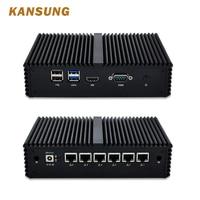 Intel Core i7 6500U 6 Gigabit Lan DDR4 Mini Pc Pfsense AES NI маршрутизатор брандмауэра Windows 10 Linux desktop неттоп персонального компьютера без вентилятора мини ПК