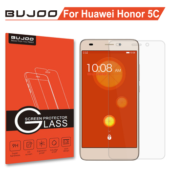 97ba74e7590 Original bujoo real 2.5D 0.3mm 9 h claro vidrio templado para Huawei honor  5C pantalla Honor5C HD película