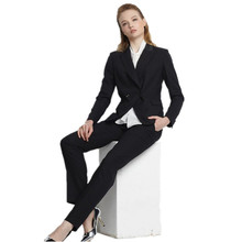 2017 New Hot Sale Full Cotton Pantalones Mujer Work Wear Women's Formal Slim Suit Professional Bussines (jacket And Pants)