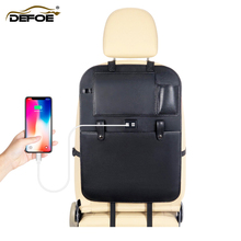USB car organizer seat storage bag Multifunctional box back creative accessories freeship