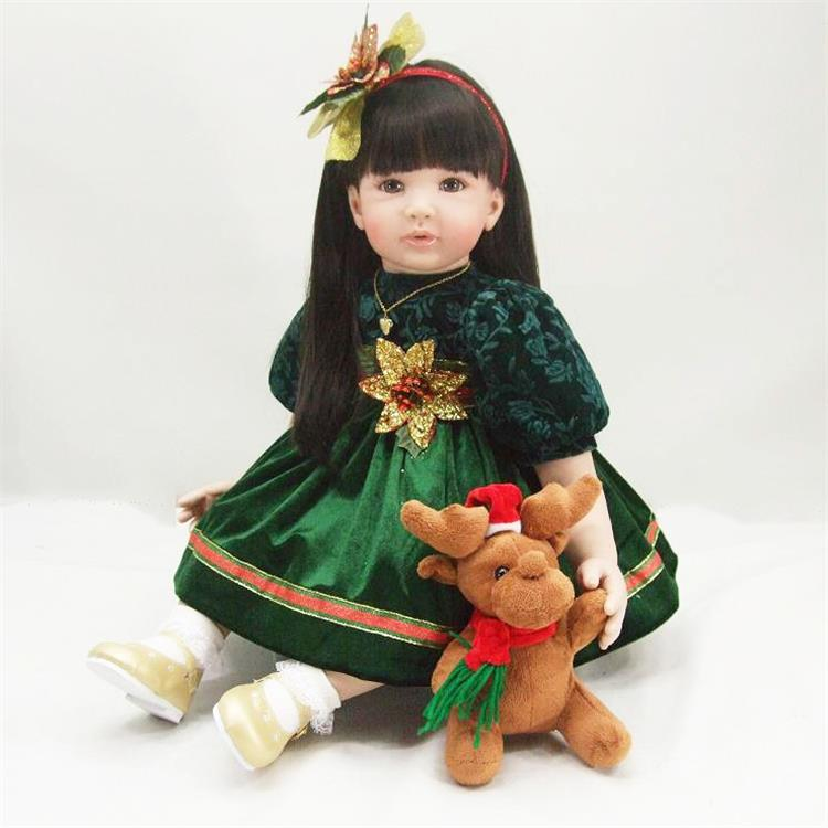 Fashion reborn vinyl silicone baby dolls accompany sleeping lifelike cute princess toddler doll kid christmas boutique gifts the cute silicone reborn baby dolls accompany sleeping lifelike cute princess toddler doll kid popular christmas new year gifts