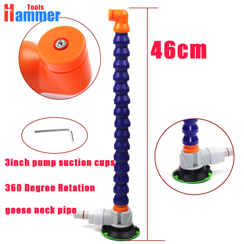 flexible gooseneck pipe for PDR LED lamp with 3 inch Heavy Duty Hand Pump Suction Cup дырокол deli heavy duty e0130
