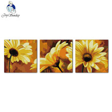 Joy Sunday flower style African daisy hand embroidery design cross stitch patterns for home ornament(China)
