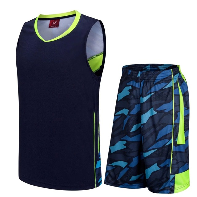 32e1f47f3be Blank style basketball jersey   shorts men sleeveless uniform breathable  basketball training suit cheap basketball jerseys