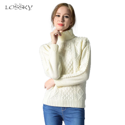 Lossky fashion women s wool sweater 2017 autumn and winter new high necked twist knitted sweater.jpg 250x250