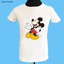Seestern brand clothing new men's printing anime mouse t shirt fashion O-Neck short sleeve summer hip hop Mickey Mouse tops tee