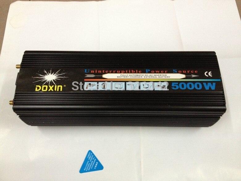 high Capacity 5000W 10000w Peak Power dc12V/24V to ac220V Modified Sine Wave ups Inverter with battery charger plastic car dc12v 24v to ac220v power inverter with usb port black
