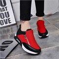 2016 sapatas do esporte da moda marca sapatos casuais mulheres sapatos de plataforma mulher respirável formadores calçados das senhoras chaussure femme