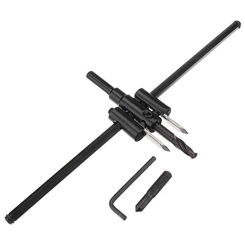 Adjustable 40-300Mm Metal Wood Circle Hole Cutter Wood Drywall Drill Bit Saw Round Cutting Diy Tool Adjustable Circle Hole Cut