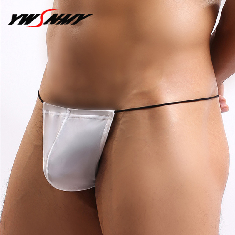 Thin Belt Mens G Strings And Thongs Sexy Tight Underwear Jockstrap Lingerie Male Penis Pouch Homme Erotic Sissy T-back Panties