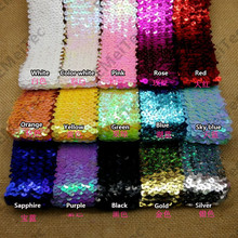 5 rows stretch sequined lace ribbon trim 4.5cm wide elasticity trimming diy Sewing Dance stage costumes decoration Accessories