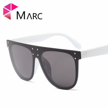 MARC UV400 WOMEN MEN sunglasses Oculos eyewear gafas Sol classic Plastic Black Wrap Gray Polycarbonate Goggle