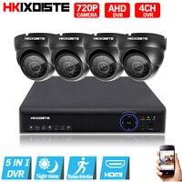 4CH CCTV System 1080P HDMI Output Video Surveillance DVR Kit with 4PCS 2000TVL 720P Home CCTV Security Camera System Black set
