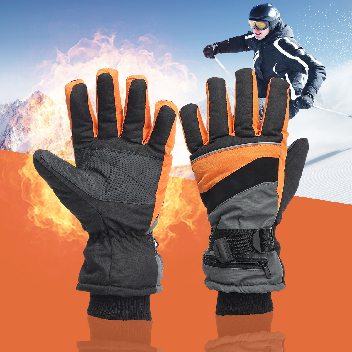 1 Pair Motorcycle Bicycle Snow Winter Outdoor Work 3.7V Electric Heated Gloves +2x2000MAh Rechargeable Battery Hands Warmer 1 pair 4000mah rechargeable battery with smart switch on off electric heated warm glove winter outdoor work ski warmer gloves
