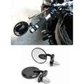 "MOTOCICLETA 7/8 ""HANDLE BAR END RETROVISOR LATERAL TRASEIRA ESPELHOS CAFE RACER BOBBER CLUBMAN 3"" retroviseur moto motocicleta espelho redondo"