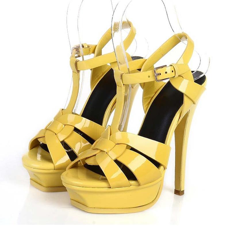 HTB1o2rLX5LrK1Rjy1zdq6ynnpXao Coolcept Genuine Leather High Heel Sandals Women Heels 10cm And 14cm Sexy Footwear Fashion Woman Shoes R4425 Hot Sale 33-40