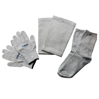 1 Set=3 Pairs Electrical Stimulator Conductive Fiber TENS/EMS Massage Gloves Socks Electrotherapy/Facial Conductive Knee Pads