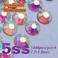 Бесплатная доставка ногтей стразами кристалл AB цвет SS5 ( 1.7 - 1.8 мм ) 1440 шт./упак. , не исправление Flatback камни