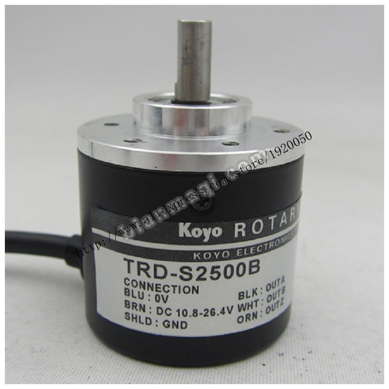 Supply Koyo TRD-S2500B series photoelectric rotary encoder / shaft diameter 6mm / 2500P / R koyo encoder corp solid shaft rotary encoder trd 2t100af