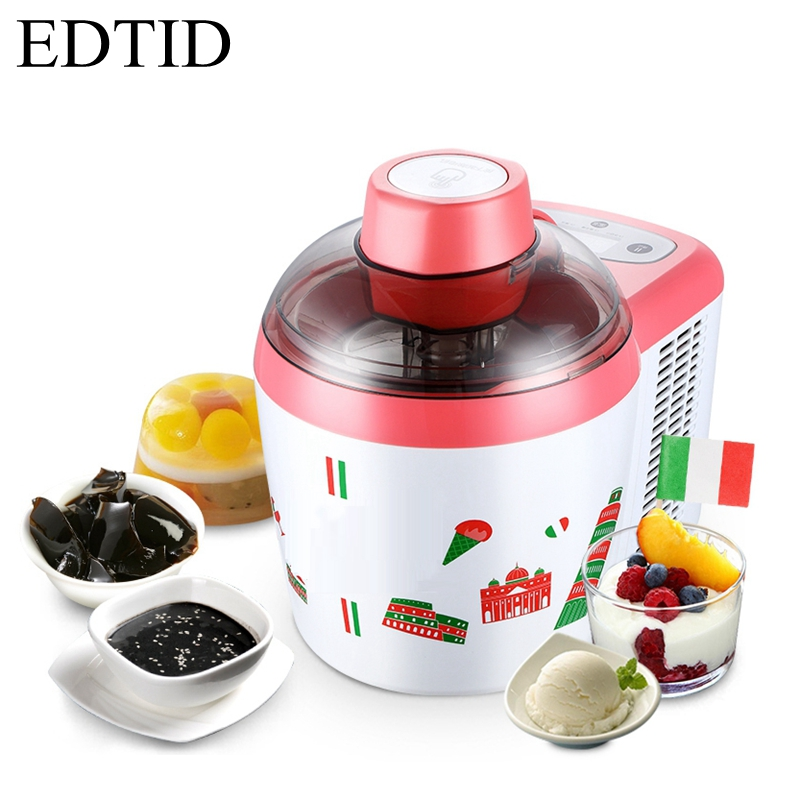 EDTID Household Fully Automatic fruit yogurt Ice Cream Machine Electric Intelligent DIY Ice Cream Maker 2 colors available bl 1000 automatic diy ice cream machine home children diy ice cream maker automatic fruit cone soft ice cream machine 220v 21w
