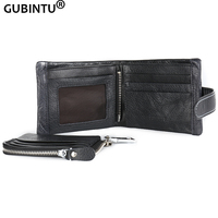 GUBINTU Genuine Leather 2016 Classical European And American Style Men Wallets Fashion Purse Card Holder Vintage
