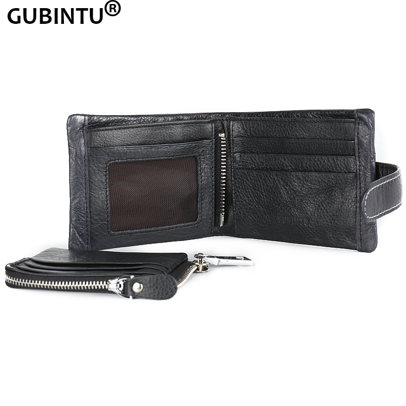 GUBINTU Genuine Leather 2016 Classical European and American Style Men Wallets Fashion Purse Card Holder Vintage Man Wallet wallets genuine leather new 2015 casual men fashion european american coin purse style free shipping multifunctional bags b909