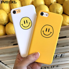 Fashion Smiley Face Phone Casing For Apple iPhone 6 6S 8 7 Plus X 10 Simple Frosted Hard PC Back Cover Cases 5 5S SE